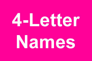 Beautiful 4-Letter Girl Names With Meanings - suggesname com